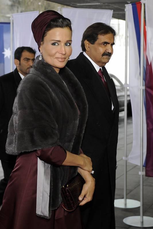 Sheikha Mozah & Emir of Qatar