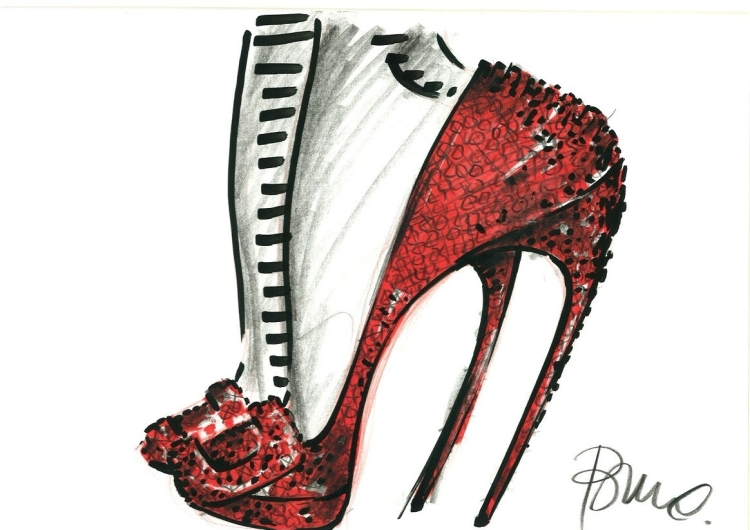 Roger Vivier Shoe Sketch